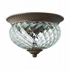 LightingShowroom.com: Plantation Copper Bronze Outdoor Flush Mount, $239.00