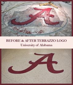 Doyle Dickerson Terrazzo is a leading terrazzo flooring installer located in Charlotte, NC. We install commercial flooring in the Southern USA. University Logo, University Of Alabama, Design Logos, Terrazzo Flooring, Commercial Flooring, Floor Design, Epoxy, House, Floor Covering