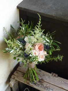 Wild but elegant with herbs and even olive branches