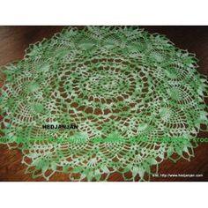 Napperon Crochet Ovale - 0352 - Vert Chiné - 20.00 Euros - Dimension 45x48