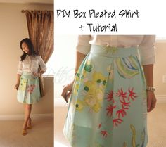 Under the Sea Box Pleated Skirt DIY