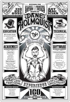 The DH Resume by Dane Holmquist, via Behance Graphic Design Resume, Cv Design, Print Design, Portfolio Resume, Portfolio Design, Portfolio Ideas, Creative Resume, Creative Design, Brand Identity Design