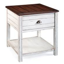 Rectangular End Table in Alabaster - Bellhaven Collection