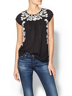 Sabine Islita Embroidered Peasant Top | Piperlime