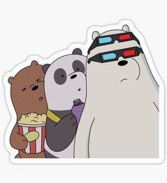 We Bare Bears Stickers – Famous Last Words Red Bubble Stickers, Cool Stickers, Printable Stickers, Laptop Stickers, We Bare Bears Wallpapers, Cute Wallpapers, Bear Tumblr, We Bear, Bear Wallpaper