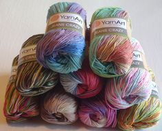 Woolcraft Cakes Coloured Yarn 200g Striping Knitting Sewing Crochet Wool Balls