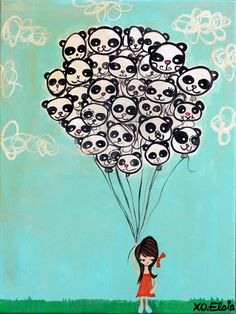 Panda Balloons, remember birthday: April 1st x)