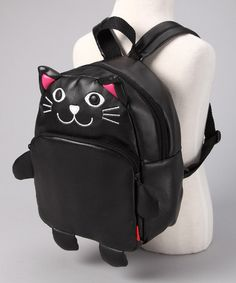Take a look at this Cat Vinyl Backpack by Pack it Up: Kids' Bags on today! if this was adult size, I would totally wear it Cat Backpack, Kids Bags, Memory Foam, Toddler Girl, Calves, Clutches, Totes, Infant, Take That