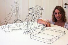Esculturas de arame que parecem se desfazer no ar | IdeaFixa