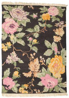 Kelim Karabach Amira - Zwart / Bruin tapijt CVD14323