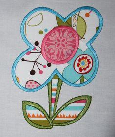 Stem Flower Machine Embroidery Applique Design by SillyCatDesigns, $3.50