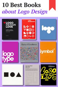 10 Best Books about Logo Design – Famous Last Words Best Design Books, Graphic Design Books, Graphic Design Print, Logo Design Liebe, Buch Design, Design Basics, Web Design, Logo Type, Brand Book Examples