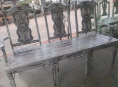Hey, I found this really awesome Etsy listing at https://www.etsy.com/listing/187859472/aged-country-style-ornate-bench