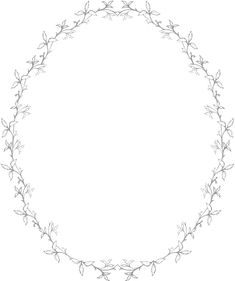 Glass etching stencil of Ivy Oval Border. In category: Frames, Ivy, Vines & Natural