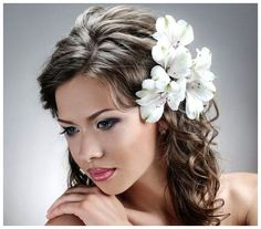 Hairstyles for Wedding Guests with Long Hair : Long Hair Styles For A Wedding Flowers