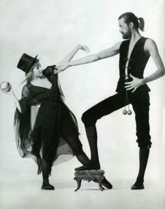 Stevie Nicks with Mick Fleetwood