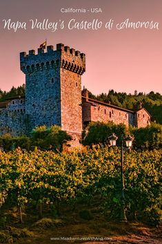 Napa Valley's Castello di Amorosa California USA. A family friendly vineyard in Napa. Things to do in Napa California. Napa California things to do. Places To Travel, Places To Visit, Architecture Design, Napa California, Northern California, Sonoma Wineries, Us Destinations, Napa Valley, Travel Tips