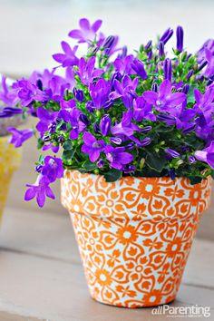 DIY Fabric Covered Terracotta Pots - Cute Spring Flower Pots Decoration Ideas