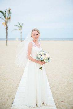 Custom beach inspired wedding gown--Real Brides | Emily Kotarski Bridal