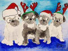 Pugs by archyscottie