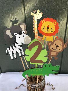 Zoo Jungle Safari Animal Centerpieces Party Monkey Lion Zebra Elephant Giraffe