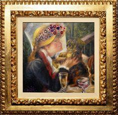 #RengglisGallery#DanieleDondé #Dondé#Erlenbach#Rapperswil#IAA #Novarca@cutnroll.ch#Renoir #WomenWithDog Renoir, Dogs, Painting, Women, Art, Artworks, Art Background, Women's, Painting Art
