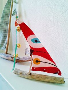 Craft - Driftwood sailing boat - so easy to make