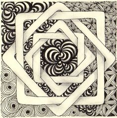 By Laura Harms, Certified Zentangle Teacher  I love the labyrinth quilt pattern.  This is 2 of my loves combined