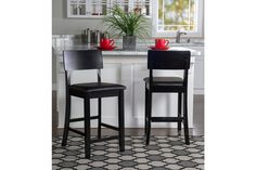 Emilion Torino Contemporary Counter Stool | Ashley Furniture HomeStore Leather Furniture, Bar Furniture, Furniture Deals, Black Counters, Upholstered Bar Stools, Black Cushions, How To Clean Metal, Counter Bar Stools, Dining Room Bar