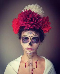 Beautiful Halloween makeup. Sugar skull