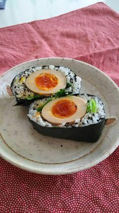 煮卵おにぎらず by katoryo
