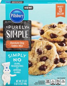 <strong>Pillsbury<sup>™</sup> Purely Simple<sup>™</sup></strong> Chocolate Chip Cookie Mix Pillsbury Halloween Cookies, Chocolate Chip Cookie Mix, Pumpkin Cookies, Pumpkin Spice, Ma Baker, Pillsbury Recipes, Baking Basics, Gourmet Recipes, Cat