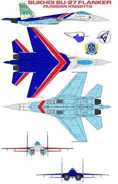 Sukhoi Su-27 Russian Knights by bagera3005 on DeviantArt
