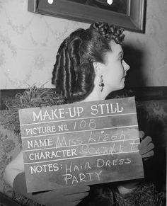 Makeup still of Vivien Leigh as Scarlett O'Hara Butler in the scene for Ashley's birthday party in 'Gone With The Wind'.