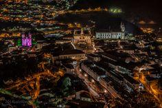 Vista noturna Ouro Preto, MG, Brasil