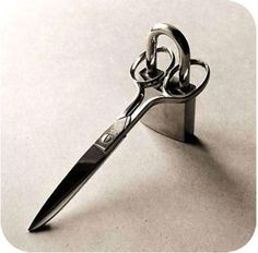 if you don't want your sewing scissors used for paper, wire, etc. BEST IDEA EVER!