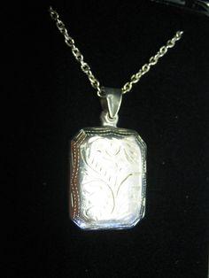 Rectangular Sterling Silver Locket