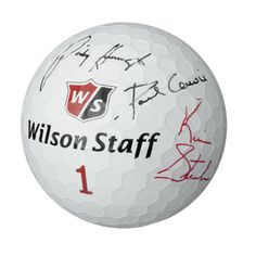 """Wilson ® Staff Jumbo Golf Ball 62229 - 7"""" inflatable rubber golf ball with a replica dimple design pattern. Great giveaway for corporate golf outings or other promotional activities. Ideal during events with tour players and celebrities to autograph. 7"""" diameter. Rubber material. #propelpromo"""