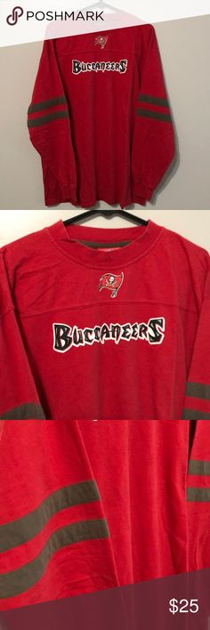 NFL Tampa Bay Buccaneers Long Sleeve Size XL NFL Tampa Bay Buccaneers Long Sleeve Size XL, Brand New, Never Worn or Used⚡️WILL SHIP IN ONE DAY⚡️All bundles of 2 or more receive 20% off. Closet full of new, used and vintage Vans, Skate and surf companies, jewelry, phone cases, shoes and more. NFL Shirts Tees - Long Sleeve