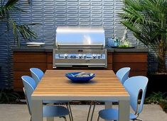 Simple Built-in Barbecues Arterra Landscape Architects San Francisco, CA Modern Landscaping, Outdoor Landscaping, Heath Tile, Barbecue Design, San Francisco, Built In Grill, Bbq Area, Outdoor Furniture Sets, Outdoor Decor