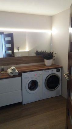 Znalezione obrazy dla zapytania pralka i suszarka w łazience