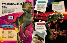 Dinosaur encyclopedia enriched with augmented reality. Scan the page with the free @Layar App to unlock extra digital content!