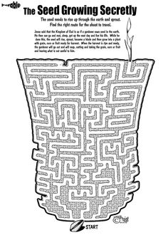 Parable of Sower Maze from story from Matthew Chapter 13