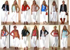 J's Everyday Fashion: 14 Ways to Wear White Skinny Jeans...........check out her blog later