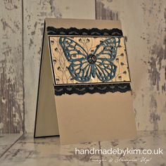 Stampin' Up! Demonstrator Kim Price - Handmade by Kim: Timeless Elegant Butterfly with the Global Design Project #GDP030