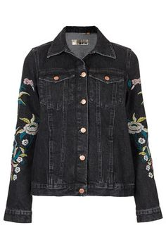 MOTO Floral Embroidery Jacket from TopShop-$140.00