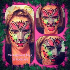 Rainbow kitty face paint