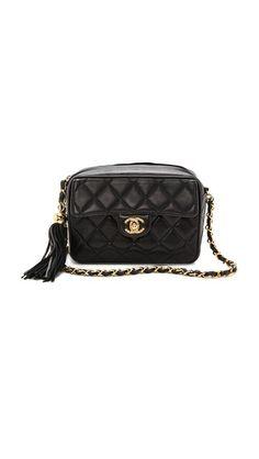 WGACA Vintage Vintage Chanel Small Camera Tassel Bag Vintage Bags a6a560f489416