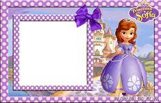 Little Girl Birthday, Disney Birthday, Mickey Mouse Birthday, Princess Sofia Invitations, Princess Sofia Birthday, Sofia The First Characters, Princesa Sophia, Disney Princess Drawings, Free Printable Invitations