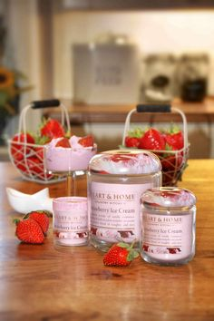 Strawberry Ice Cream - vanilla creaminess and succulent strawberries create the perfect blend